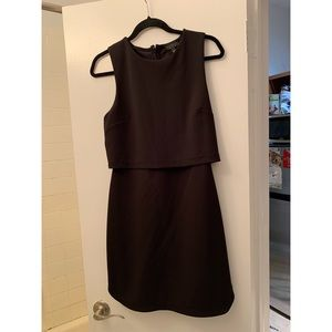Top Shop black popover dress - M